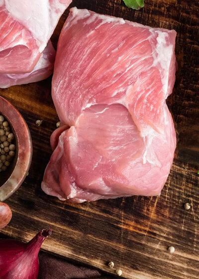 økologisk nakkefilet gris