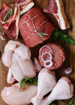 økologisk stor kød kasse