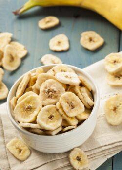 økologiske bananchips