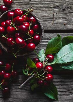 økologiske kirsebær